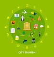 city tourism design concept vector image