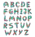 color english alphabet in doodle style vector image vector image