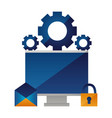 computer email security settings vector image vector image