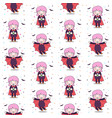 cute dracula girl fly with bat seamless pattern vector image vector image