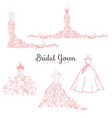 dress boutique bridal collection logo set icon vector image