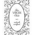 extra virgin olive oval wreath postcard vector image vector image