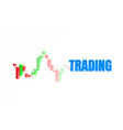 finance trader graph information buy and sale vector image