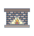 fire place icon vector image vector image