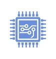 Flat Style CPU Icon vector image vector image