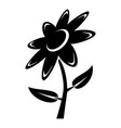 flower icon simple black style vector image