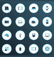 gadget icons colored set with hard drive tablet vector image
