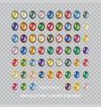 gemstones set vector image vector image