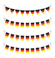 germany bunting vector image vector image