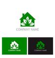 green house eco logo vector image vector image