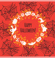 greeting card for halloween wreath vector image vector image