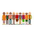 group older people vector image vector image
