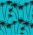 hand drawn palm trees pattern vector image