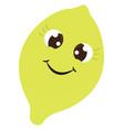 happy lemon on white background vector image