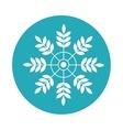 happy merry christmas snowflake card vector image