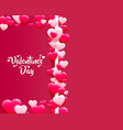 happy valentines day greeting postcard a pink vector image vector image