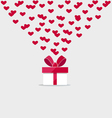 Happy valentines day Valentines day gift bag with vector image vector image