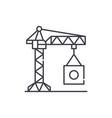 industrial crane line icon concept industrial vector image vector image