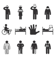 Injury icons Trauma and sickness vector image