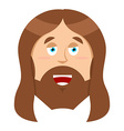 Jesus Christ Son of God biblical character of vector image