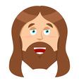 Jesus Christ Son of God biblical character of vector image
