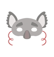 Koala Bear Animal Head Mask Kids Carnival vector image