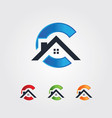 letter c style real estate house logo vector image