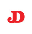 letters jd simple linked logo vector image vector image