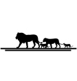 lion family silhouette vector image