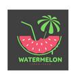 logo template with watermelon beach umbrella