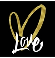 Love Calligraphy Lettering vector image vector image