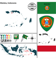 Map of Maluku vector image vector image