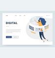modern flat design concept marketing for banner vector image vector image