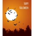Moon with bats - Halloween design Horror vector image vector image
