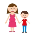 mother silhouette figure isolated icon vector image vector image