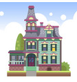 multi-storey country house vector image