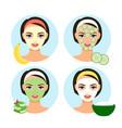 natural facial masks vector image vector image