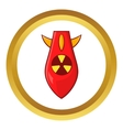 Nuclear warhead icon vector image vector image