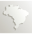 Paper map of Brazil vector image vector image
