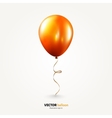 Party flying balloon with streamer isolated on vector image vector image