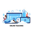 people studying computer application training vector image vector image