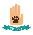 Pet design vector image vector image