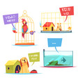 pet shop design concept vector image