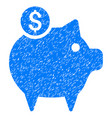 piggy bank icon grunge watermark vector image vector image