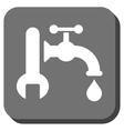 Plumbing Rounded Square Icon vector image vector image