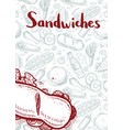 sandwiches vintage hand drawn banner vector image vector image