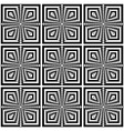 seamless geometric op art pattern vector image vector image