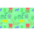 seamless pattern with a farm vector image vector image