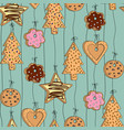 seamless pattern with different kinds home made vector image