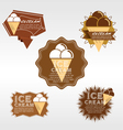 Set of Ice Cream Badge EPS10 vector image vector image